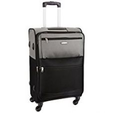 Aristocrat Evoque Polyester 66 cms Black Soft Sided Suitcase (STEVOW66BLK) for Rs. 4,186