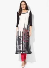 Buy W White Printed Kurta for Rs. 1020