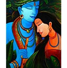 TiedRibbons® Sheer Romance canvas Print Unframed (18 inch x 22 inch,Blue) for Rs. 399