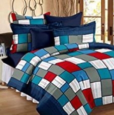 Story@Home Candy 120 TC Cotton Bedsheets For Double Bed, Checks for Rs. 478