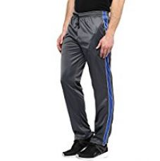 Buy American Crew Men's Trackpant Grey With Blue Stripes & Two White Piping -L (AL069-L) from Amazon