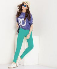 Buy Yepme Tracey Essential Leggings - Green for Rs. 299