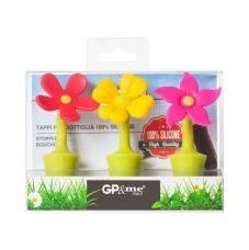 Buy Set of 3 Flower Silicone Stopper from Hopscotch