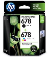 Buy HP 678 Black and Tricolor Ink Combo Pack for Rs. 855