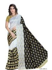 Flat 16% off on EthnicFiesta Silk Embroidered Saree (EF21647), whi...
