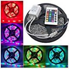 Buy Lowprice Online 5 Meter Waterproof RGB Remote Control LED Strip Light-Color Changing from Amazon