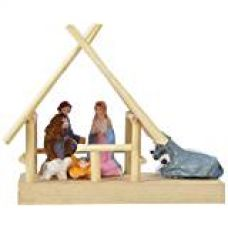 Buy Lucky Maskot Wooden Christmas Crib (9.3 cm x 6 cm x 8.5 cm) from Amazon