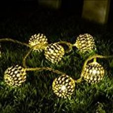 Ball Shape Warm White 20-LED String Lamp Lights For Christmas Diwali Decoration for Rs. 599