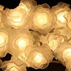 Buy Generic 30-LED Battery Operated Diwali Decor Rose Flower String Fairy Lights Lamp Christmas Decoration White from Amazon