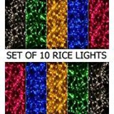 Buy Bansons Rice Lights Serial Bulbs (Ladi) Decoration Lighting for Diwali Christmas,(4-5 Mtrs)(Pack of 10) from Amazon