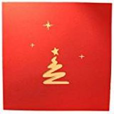 Magideal 3D Pop Up Invitation Greeting Card Christmas Valentine Wedding Tree for Rs. 250