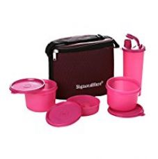 Signoraware Combo Medium Executive Lunch with Bag, Pink for Rs. 690