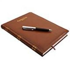 COI BROWN EXECUTIVE FAUX LEATHER LIBRARY EDITION 2017 DIARY WITH PEN for Rs. 499