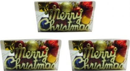 Priyankish 3 Merry Christmas Gift Box Hanging Ornaments