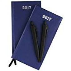 COI Set Of Two Blue Valentine'S Appointment Diary / Pocket Diary 2017 With Pen for Rs. 299