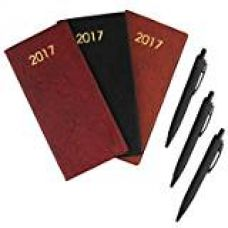 Buy COI Set Of Three Brown And Maroon Appointment Diary / Pocket Diary 2017 With Pen from Amazon