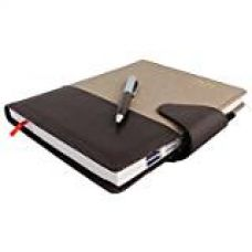 Buy COI blue faux leather and fabric diary 2017 with pen with Free Pen from Amazon