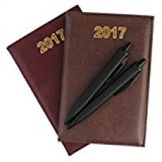 COI Set Of Two Brown And Maroon Mini Diary 2017 With Pen for Rs. 299