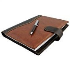 COI elegant brown and black leatherite diary 2017 with pen with Free Pen for Rs. 599