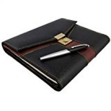 COI Unique Black And Brown Folder Diary 2017 With Lock And Pen for Rs. 999