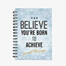 Buy InstaNote Believe Your Born To Achieve Great Things A5 Wire Bound Notebook Hard Cover from Amazon