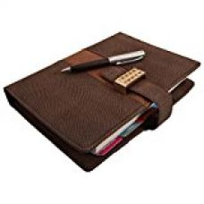 COI Brown B5 Executive Organiser / Planner With Studded Buckle And Pen for Rs. 849
