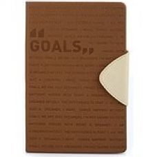 Buy Doodle Goals Motivation Diary Notebook - A5, 80GSM, 200 Pages (Brown) from Amazon
