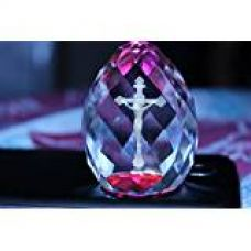 Lilone Gifts 3D Cross Crystal Cube Diamond Shape - Size 3