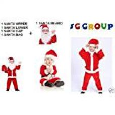 Buy SG Group Christmas Dress for children Size No. 0 (For ages 0 to 6 Months), Santa Claus Dress Costume) from Amazon