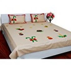 Buy 3 Pcs. Double Bed Bedsheet Christmas Theme from Amazon