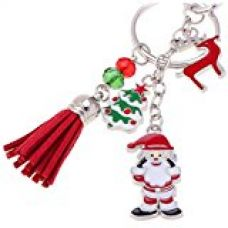 Imported Charm Santa Claus Reindeer Pendant Keychain Purse Bag Key Ring Christmas for Rs. 220