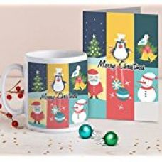 TiedRibbons® Christmas Gift For Women printed Coffee Mug(325ml) with Greeting Card for Rs. 349
