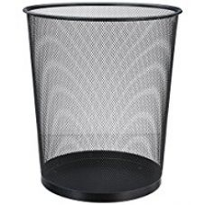 Buy Miamour Round Net Metal Dustbin, 7 Litres, Black from Amazon