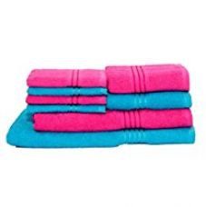 Buy HomeStrap Classic Bath Towel Set- Pack of 8 from Amazon