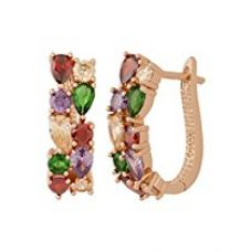 NIA Mother's Day Special Sparkling Colors Flowerets Vine Swiss Cubic ZircoNIA Mother's Day Special 18K Rose Gold Plated Clip-On Earrings For Women for Rs. 949