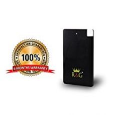 R&G 2500 mAh - World's Slimmest Automatic Power Bank - Black - With Built-in Micro USB Cable (Weighs Just 55 Grams !! ) for Rs. 599