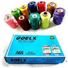AM Goelx Silk Thread 10 Spools Multicolour For Bangle-Jhumka-Jewellery Designing for Rs. 275