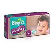 Buy Pampers Active Baby Large Size Diaper (50 Count) from Amazon