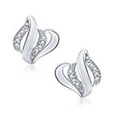 Meenaz Silver In American Daimond Cz Stud Earring For Women,Girls - T149 for Rs. 299