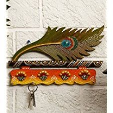 Buy JaipurCrafts Beutiful Mor Pankhi Wooden Key Holder from Amazon