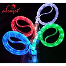 Buy Woogor High Quality USB Cable,Data Cable,Charging LED Light Cable Compatible with Apple iphone mobiles With 8 Pin Interface. Random Cable Colors from Amazon