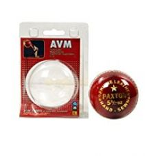 Buy AVM Paxton Leather Ball (Red) from Amazon