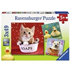 Buy Ravensburger Puzzles Funny Animals, Multi Color (3 x 49 Pieces) from Amazon