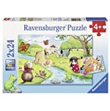 Buy Ravensburger Puzzles Playful Animals, Multi Color (2 x 24 Pieces) from Amazon