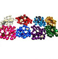 Buy AM Stones/Kundans drop shape for jewellery making/decorating. 8 different colours from Amazon