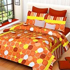 Buy HOME ELITE Floral Print Pure Cotton Double Bedsheet with 2 Pillow Covers-Multicolor from Amazon