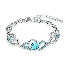 Yellow Chimes Blue Beauty Austrian Crystal CZ Charm Bracelet for Women and Girls. Perfect to Gift for Rs. 385
