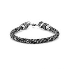 Buy Voylla Oxidized Silver Bracelet Featuring Textured Smart Look For Men from Amazon