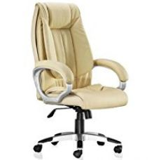Buy Adiko High Back Office Chair (Cream) from Amazon