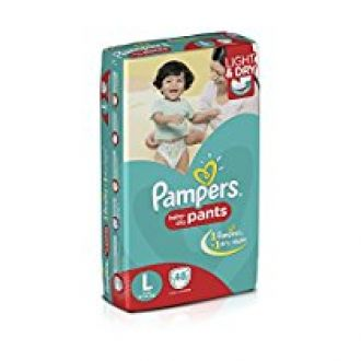 Buy Pampers Large Size Diaper Pants (48 Count) from Amazon